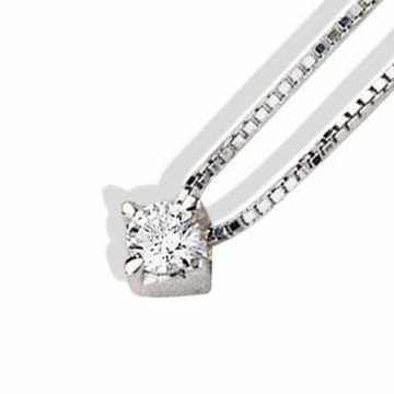 Diamond solitaire pendnat 0,10 Ct